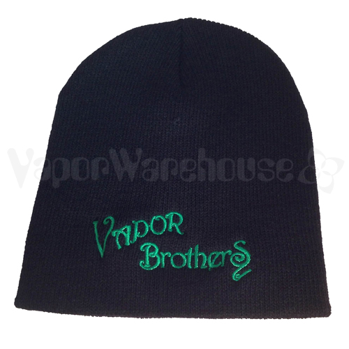 Black Vaporbrothers Beanie
