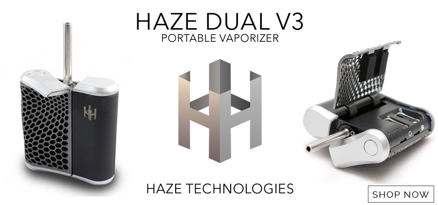 Haze vaporizer that supports wax and herb