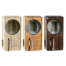 Magic Flight Launch Box Vaporizer in Maple, Oak and Cherry colors