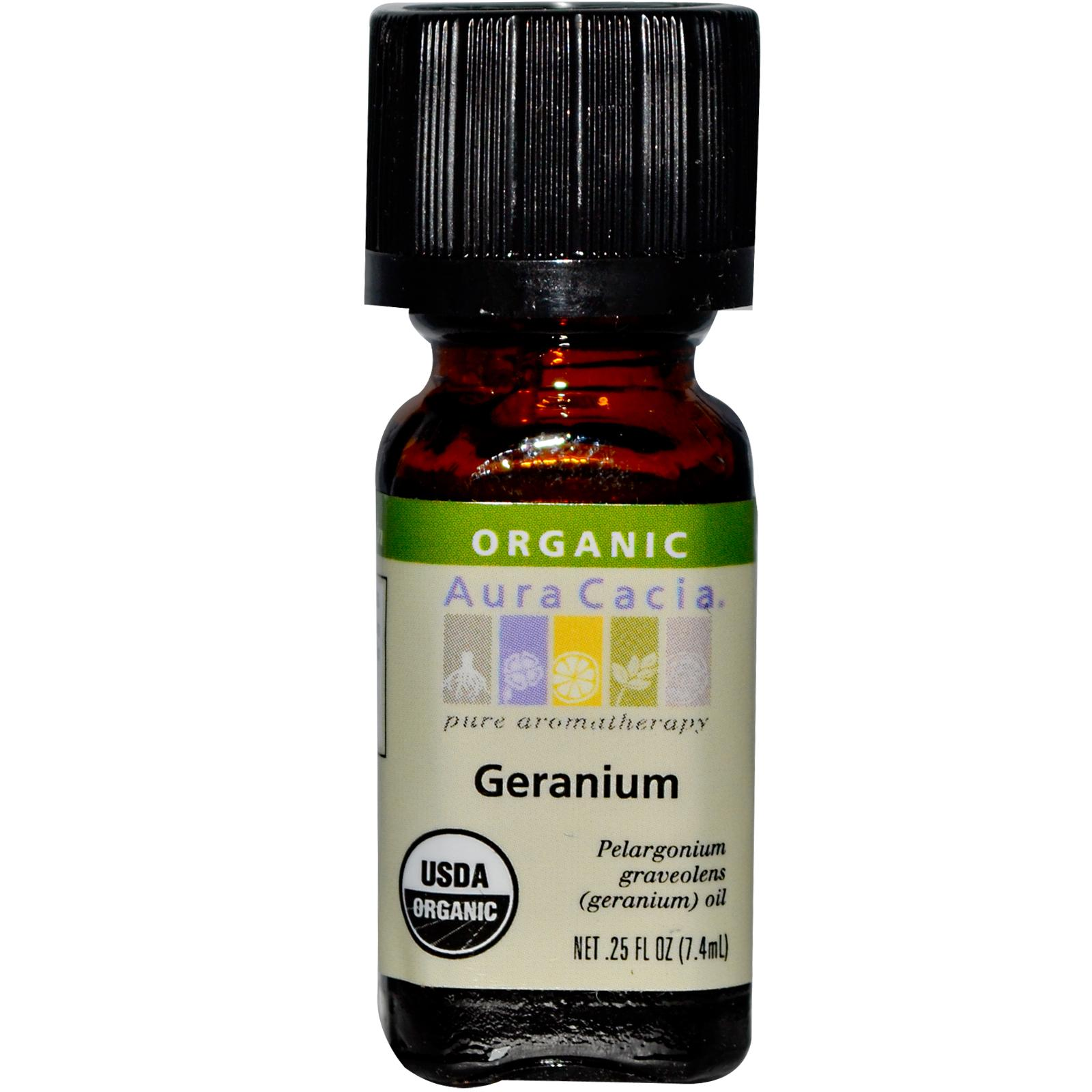 Organic Essential Oil - Aura Cacia - Geranium aromatherapy, essential oil, organic, all natural, aura cacia, certified, doTerra,  therapeutic grade, pure, geranium,