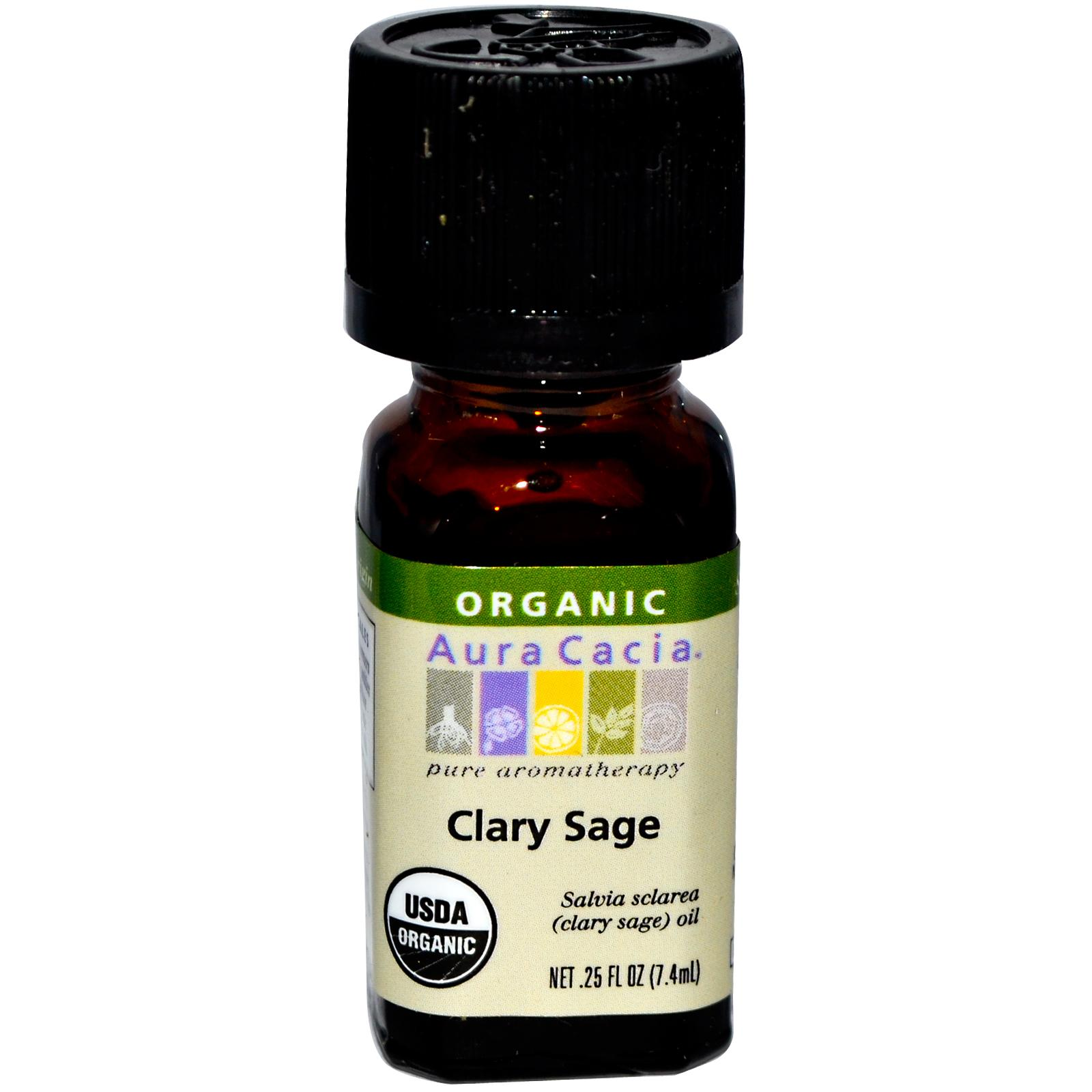 Organic Essential Oil - Aura Cacia -Clary Sage - 0.25 fl. oz. aromatherapy, essential oil, organic, all natural, aura cacia, certified, doTerra,  therapeutic grade, pure, clary sage,