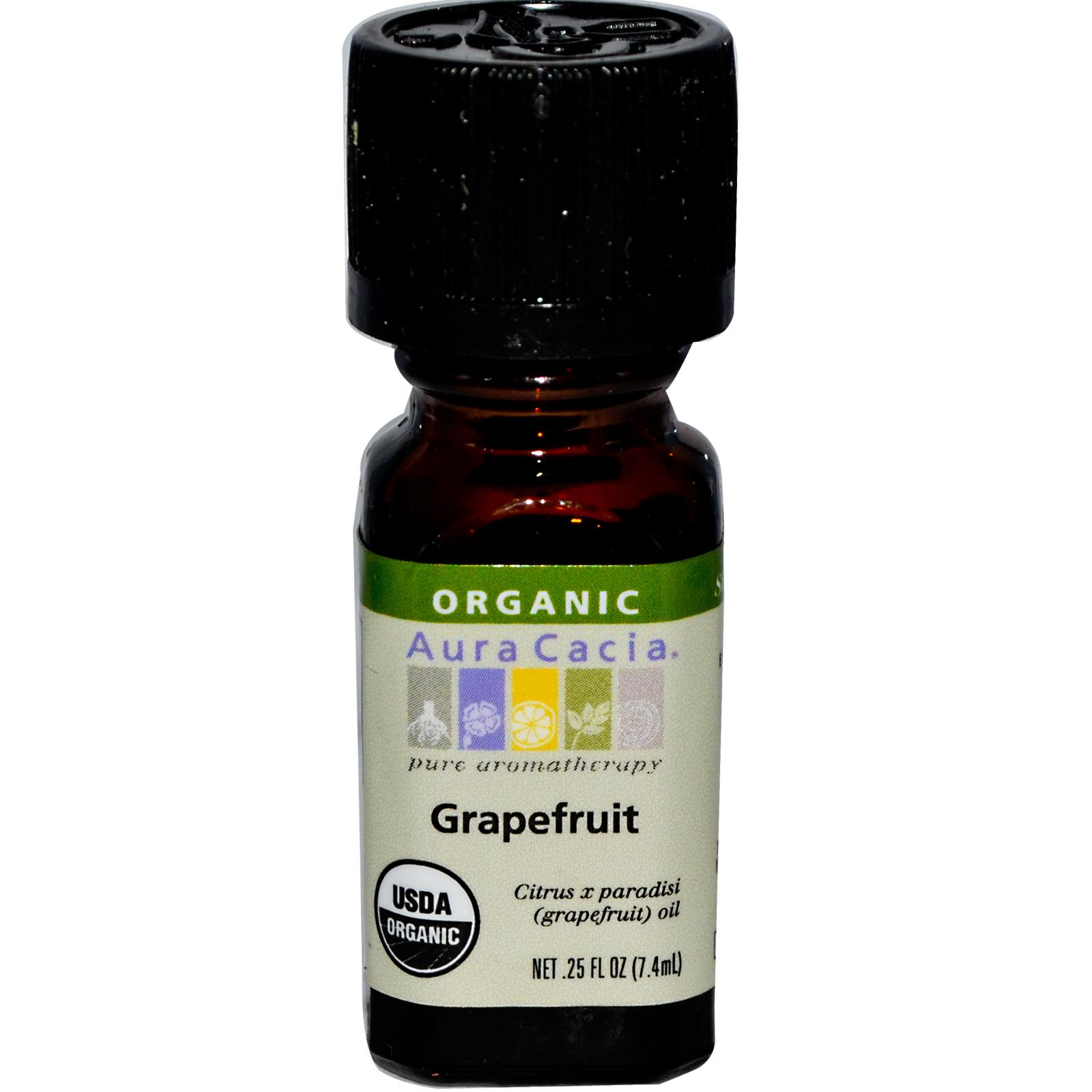 Organic Essential Oil - Grapefruit - 0.25 fl. oz. aromatherapy, essential oil, organic, all natural, aura cacia, certified, doTerra,  therapeutic grade, pure, grapefruit,