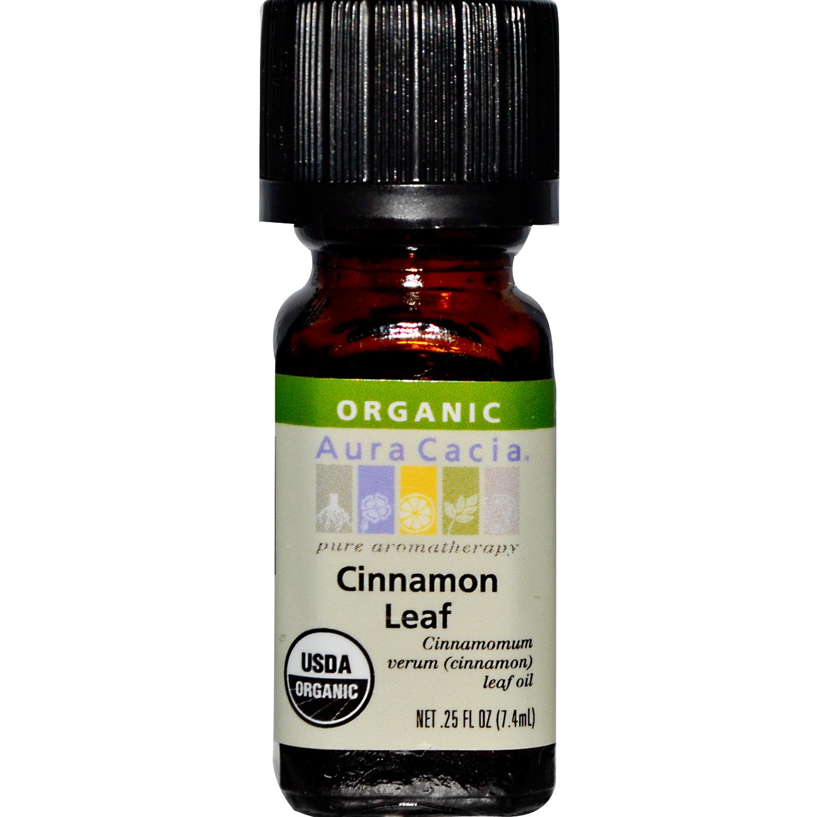 Organic Essential Oil - Aura Cacia - Cinnamon Leaf - 0.25 fl. oz. aromatherapy, essential oil, organic, all natural, aura cacia, certified, doTerra,  therapeutic grade, pure, cinnamon leaf,