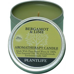 Plantlife Candle - Bergamot & Lime aromatherapy, candles, all natural, petroleum free, essential oils, natural candles, plant based wax, bergamot, lime,
