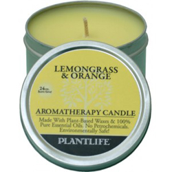 Plantlife Candle - Lemongrass & Orange aromatherapy, candles, all natural, petroleum free, essential oils, natural candles, plant based wax, lemongrass, orange,