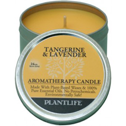 Plantlife Candle - Tangerine & Lavender aromatherapy, candles, all natural, petroleum free, essential oils, natural candles, plant based wax, tangerine, lavender,