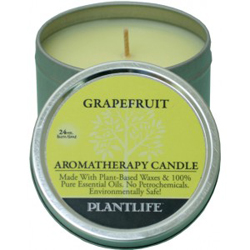 Plantlife Candle - Grapefruit aromatherapy, candles, all natural, petroleum free, essential oils, natural candles, plant based wax, grapefruit,