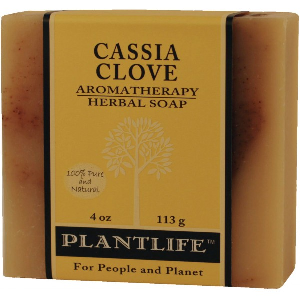 Plantlife Soap - Cassia Clove aromatherapy, soap, all natural, triclosan free, essential oils, natural soap, plant based soap, castile soap, lemon verbena,