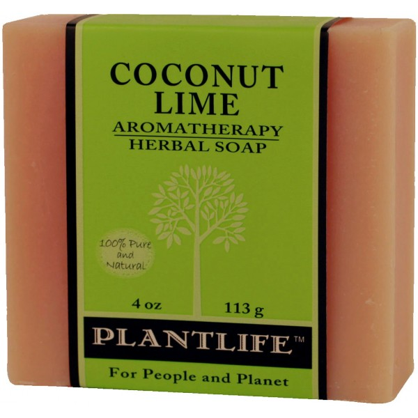Plantlife Soap - Coconut Lime aromatherapy, soap, all natural, triclosan free, essential oils, natural soap, plant based soap, castile soap, coconut lime,