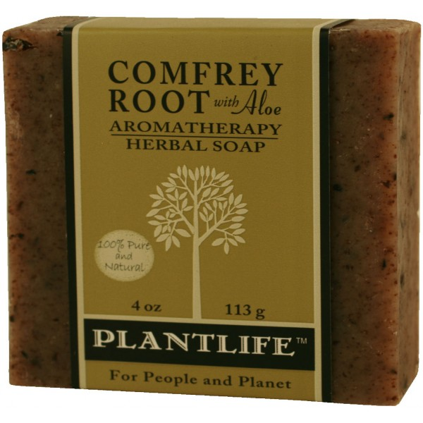 Plantlife Soap - Comfrey Root aromatherapy, soap, all natural, triclosan free, essential oils, natural soap, plant based soap, castile soap, comfrey root,