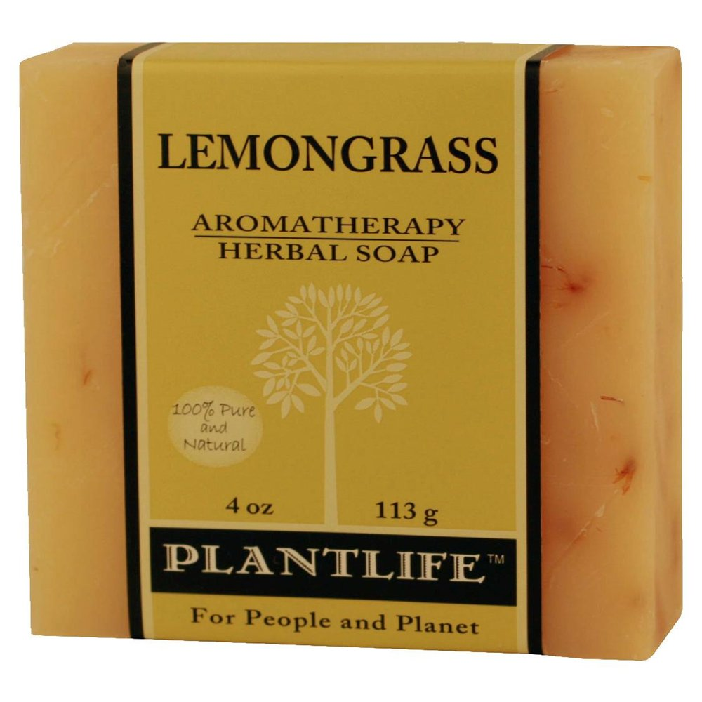 Plantlife Soap - Lemongrass aromatherapy, soap, all natural, triclosan free, essential oils, natural soap, plant based soap, castile soap, lemongrass,