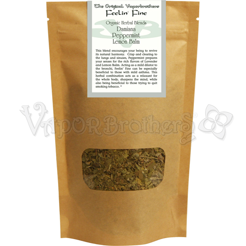 Organic Herbal Blend - Feeling Fine aromatherapy, herbal blends, botanical blends, organic, all natural, vaporbrothers, vapor bros, herb,
