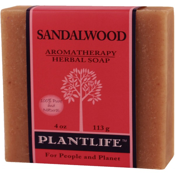 Plantlife Soap - Sandalwood aromatherapy, soap, all natural, triclosan free, essential oils, natural soap, plant based soap, castile soap, sandalwood,