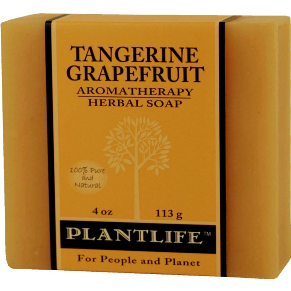 Plantlife Soap - Tangerine Grapefruit aromatherapy, soap, all natural, triclosan free, essential oils, natural soap, plant based soap, castile soap, tangerine grapefruit,
