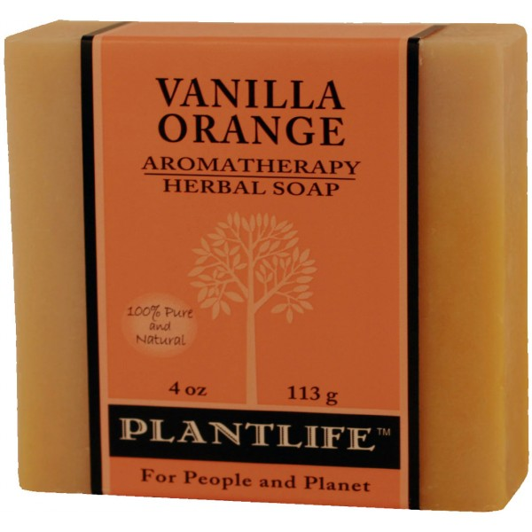 Plantlife Soap - Vanilla Orange aromatherapy, soap, all natural, triclosan free, essential oils, natural soap, plant based soap, castile soap, vanilla orange,
